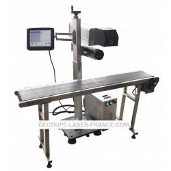 Machine fibre laser Convoyeur à bande automatique 20w 30w