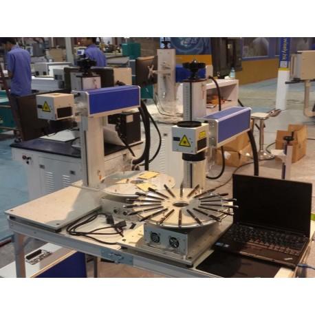 Machine de gravure fibre laser pour stylo support disque rotatif